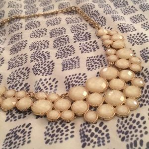 Francesca's Collections Jewelry - Francesca's White & Gold Statement Choker Necklace